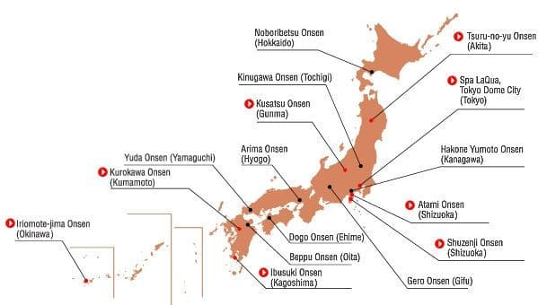 onsen passione giapponese map